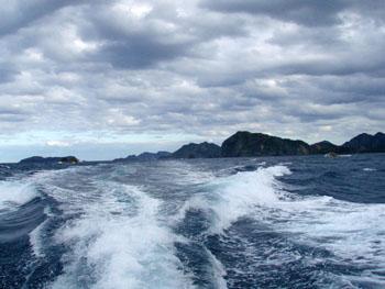 南島へのクルージング