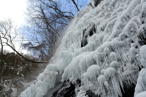 凍結した白猪の滝