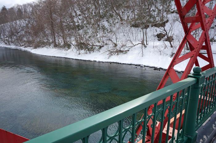 冬の千歳川