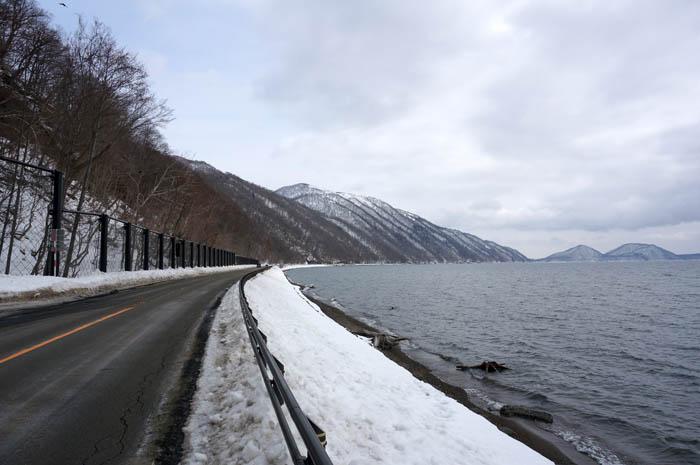 冬の支笏湖ドライブ