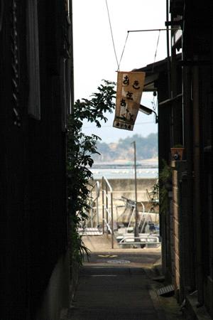 直島の裏路地