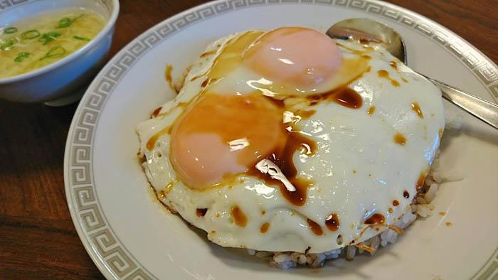 錦海楼の焼豚玉子飯