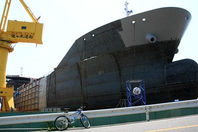 大崎上島の造船所