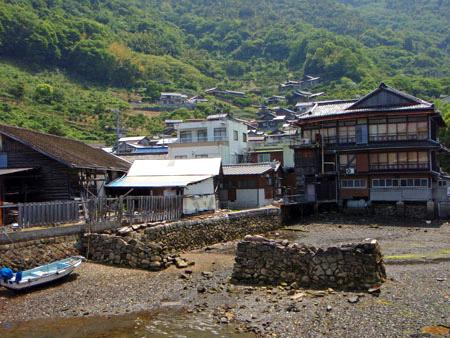 大崎上島木江の古い町並み