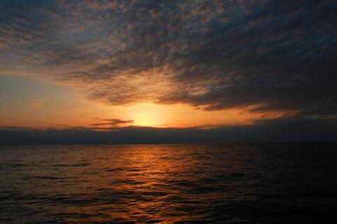 太平洋の日没