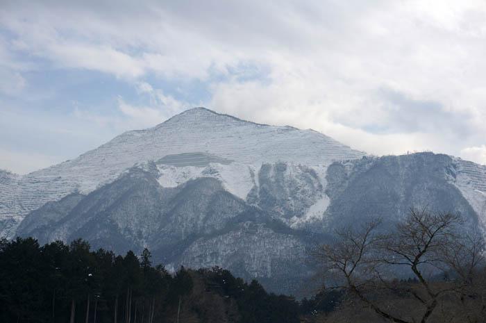 冬の武甲山