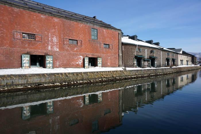冬の小樽運河倉庫
