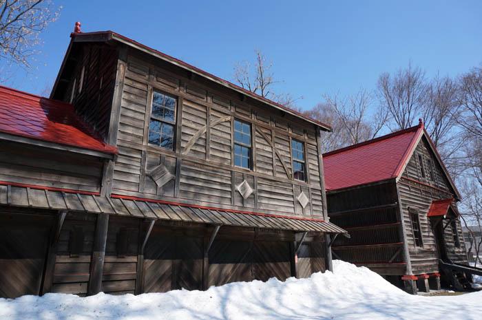 雪の札幌農学校第二農場