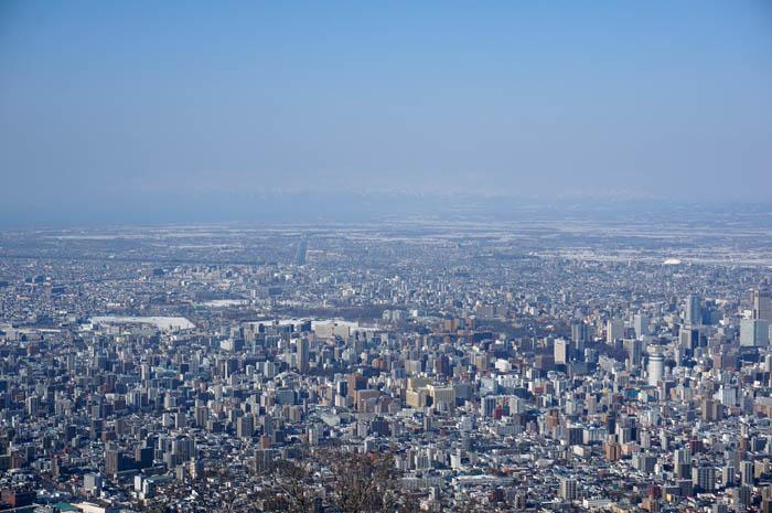 藻岩山山頂展望台からの札幌市