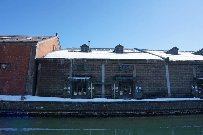 雪の小樽運河倉庫