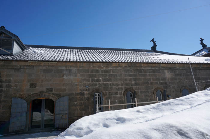 小樽運河館冬の中庭