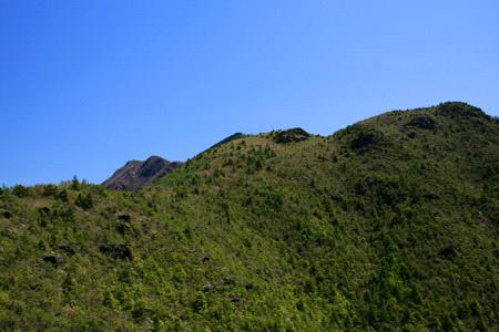 銅山峰と西赤石山