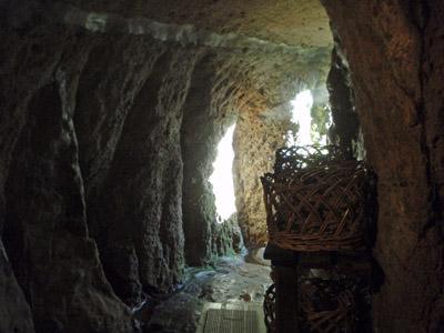 新明館洞窟風呂脱衣場