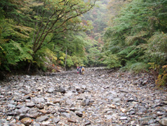 御来光の滝面河川
