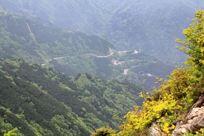別子銅山西山からの眺め