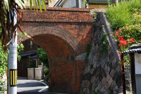 伊予鉄道のレンガ橋