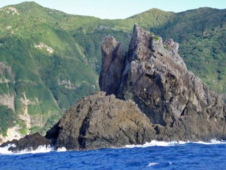 母島の奇岩
