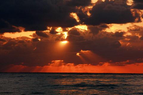 小笠原の日没