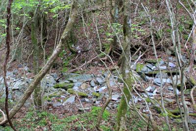 別子銅山西山の水路跡