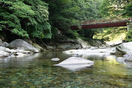 面河渓水遊び
