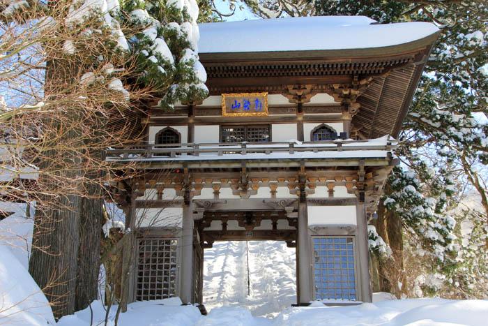 冬の大山寺山門