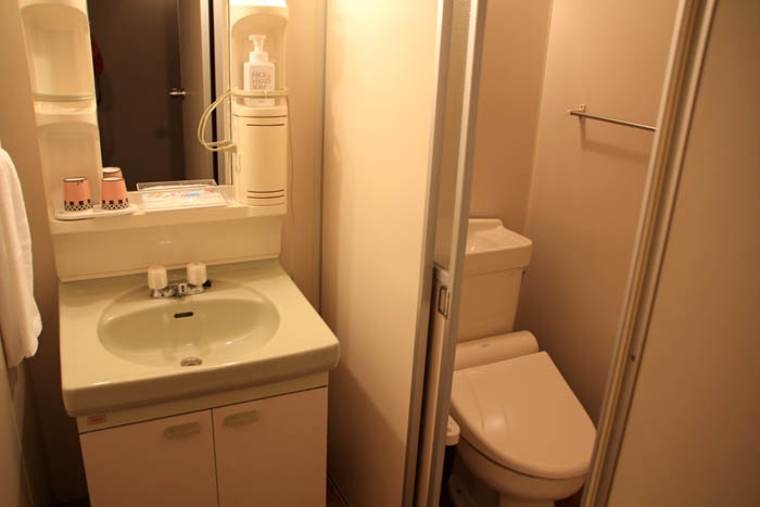 臥龍の郷別館トイレと洗面所