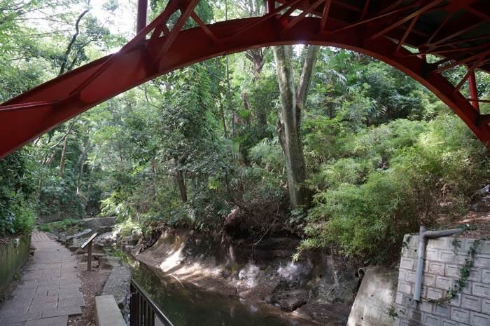 等々力渓谷とゴルフ橋