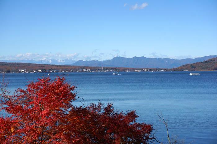 紅葉の山中湖