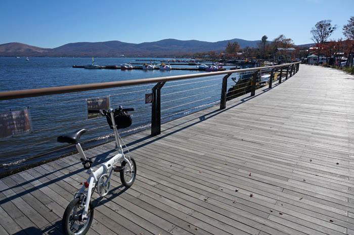 山中湖サイクリング